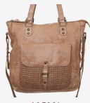Giannotti Weave Leather Tote Bag in Black